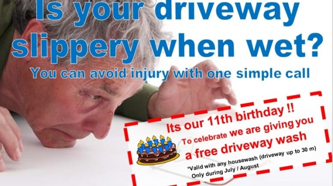 Driveway cleaning limited offer